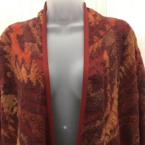 NEW wTag-LUCKY Brand Brown Light Fringe Cardigan L